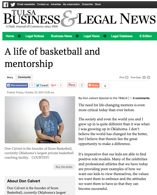 Score Basketball | Tulsa Business & Legal News