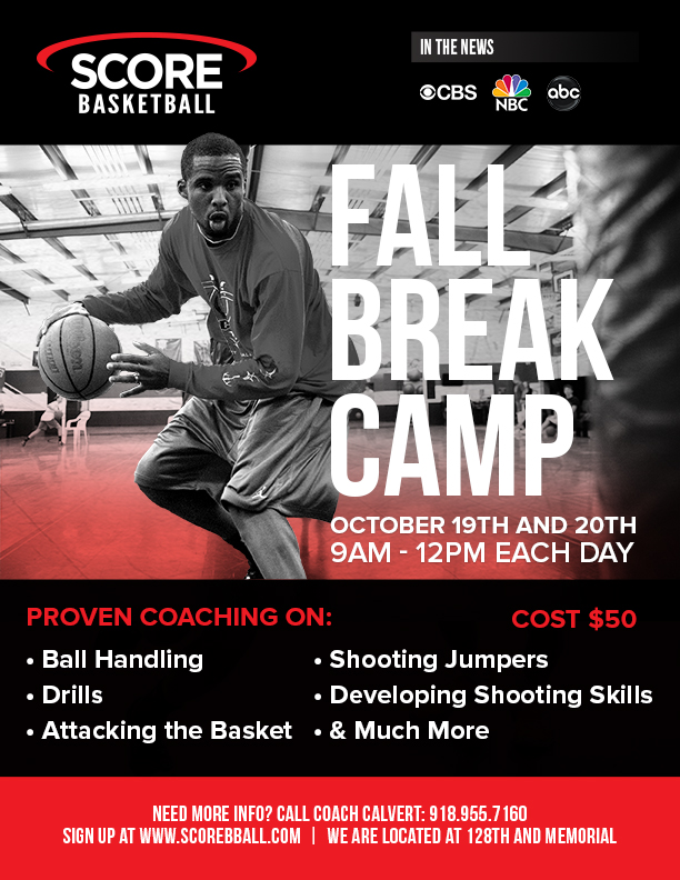 Fall Break Camp Flyer - 2017 - Score Basketball