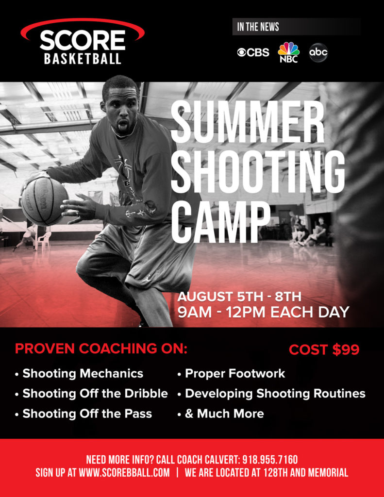 Summer Shooting Camp Flyer 2019 Score Basketball